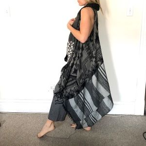 Sweaters - Sleeveless wrap scarf duster tunic dress NWOT